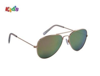 Kinderzonnebril | Pilotenbril | Paars-groen | 129 MM