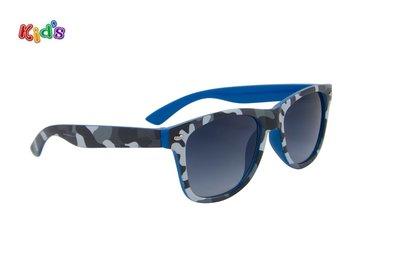 Kinderzonnebril | Legerprint Blauw-Zwart-Wit | 126 MM