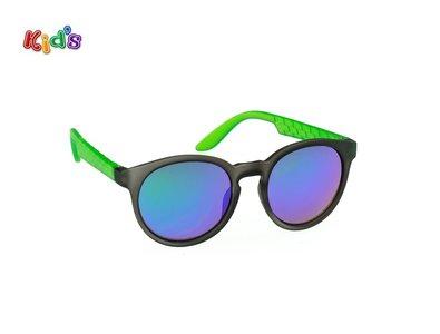 Kinderzonnebril   Zwart-Groen   124 MM