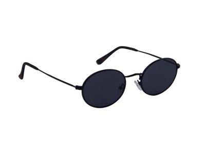 Zonnebril met ovale glazen   Zwart-Grijs   132 MM