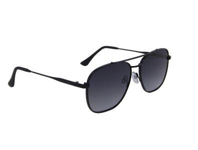 Heren zonnebril | Zwart met donkergrijze glazen | 140 MM