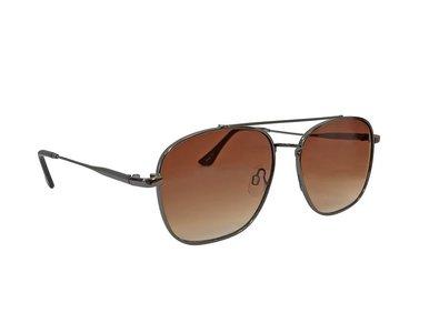 Heren zonnebril   Donkergrijs met bruine glazen   140 MM
