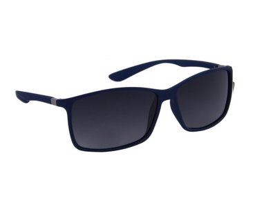 Heren zonnebril | Navy blauw met donkergrijze lenzen | 140 MM