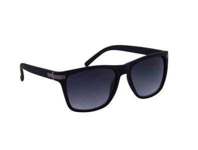 Zonnebril zwart met grijze glazen | 141 MM