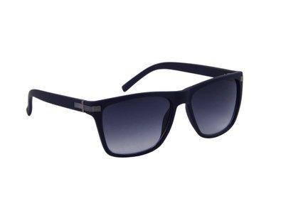 Zonnebril donkerblauw met grijze glazen | 141 MM