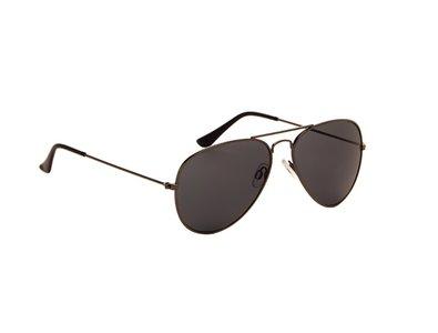 Gepolariseerde zonnebril | Pilotenbril | Donkergrijze glazen | 138 MM
