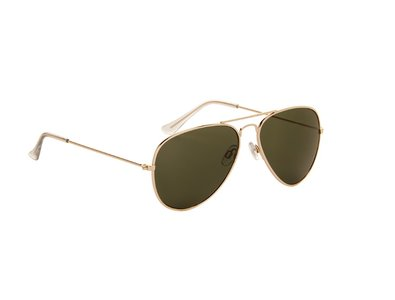 Gepolariseerde zonnebril | Pilotenbril | Groene glazen | 138 MM