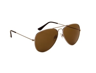 Gepolariseerde zonnebril | Pilotenbril | Bruine glazen | 138 MM