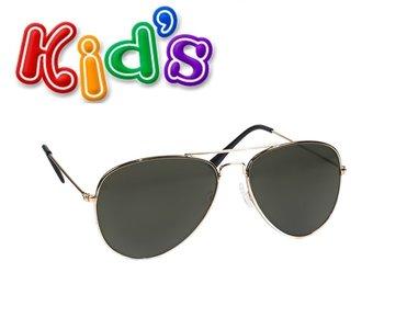 Kinder piloten zonnebril zwart