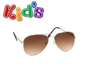 Kinder piloten zonnebril zilver
