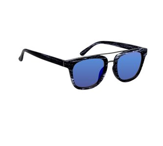 Houtlook zonnebril zwart-wit