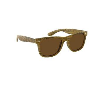 Houtlook wayfarer zonnebril