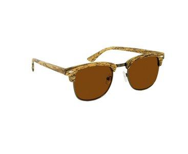 Houtlook clubmaster zonnebril