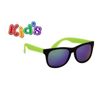 Kinderzonnebril praag zwart-groen