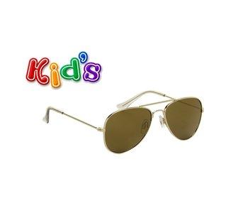 Kinderzonnebril, Pilotenbril, Havana, Bruin