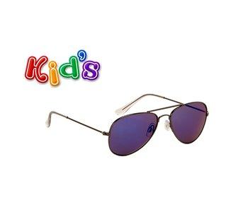 Kinderzonnebril | Pilotenbril | Blauw | 129 MM