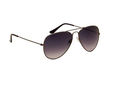 Gepolariseerde zonnebril | Pilotenbril | Donkergrijze glazen | 140 MM
