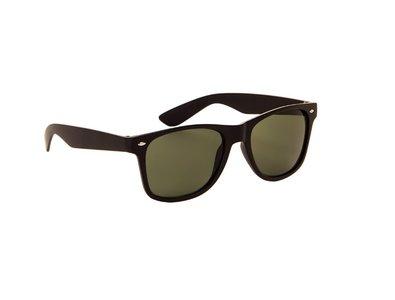 Zonnebril zwart met groene glazen | 145 MM