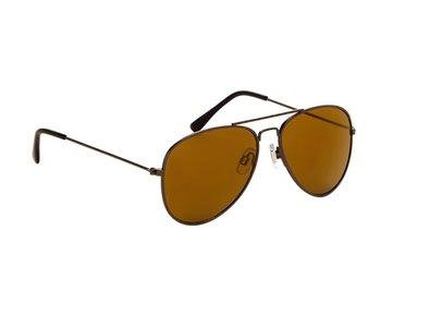 Pilotenbril | Bruine glazen | 139 MM