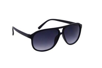 Heren zonnebril | Zwart met donkergrijze glazen | 142 MM