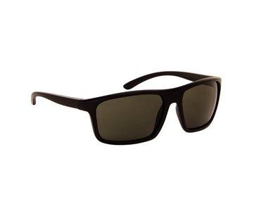 Heren zonnebril | Zwart met groene lenzen | 145 MM