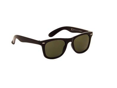 Gepolariseerde zonnebril | Zwart met groene glazen | 140 MM