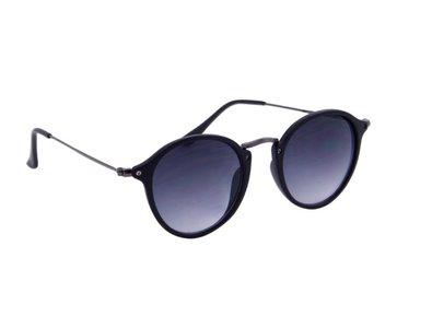 Dames zonnebril | Gepolariseerd | Zwart met grijze glazen | 142 MM