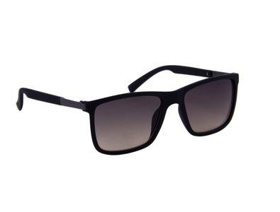 Gepolariseerde zonnebril | Zwart met bruine glazen | 140 MM