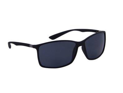 Gepolariseerde heren zonnebril | Zwart met donkergrijze lenzen | 140 MM