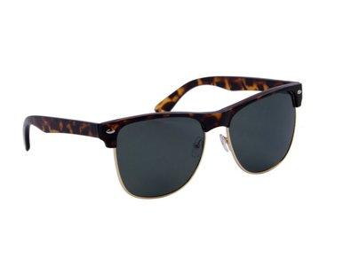 Gepolariseerde zonnebril | Luipaardprint | Groene glazen | 147 MM